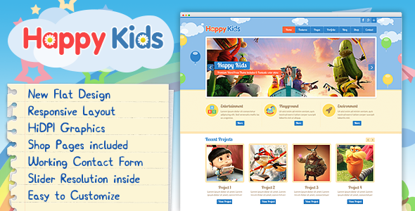 Happy Kids v2.0 - Multipurpose HTML Template