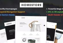 HomeStore v1.0 - Modern, Minimal & Multipurpose Shopify Theme with Sections
