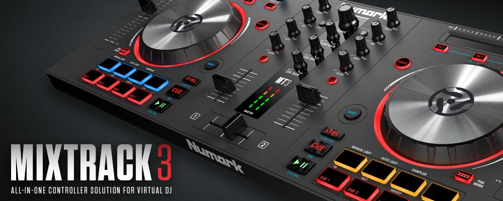 Image result for Numark Mixtrack 3 | All-in-one Controller Solution with Virtual DJ LE Software…