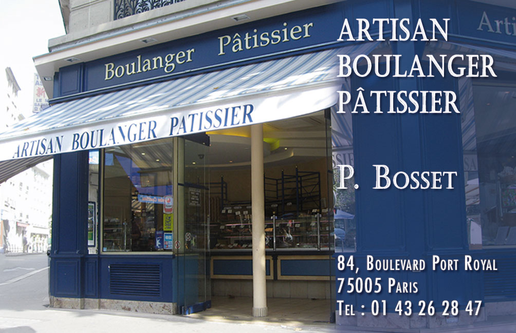 Carte De Visite Boulangerie Patisserie RECTO