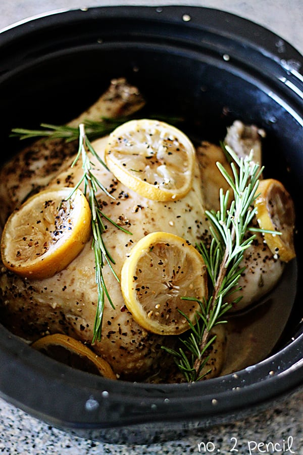 Lemon Garlic Chicken - Keto Crockpot Recipe