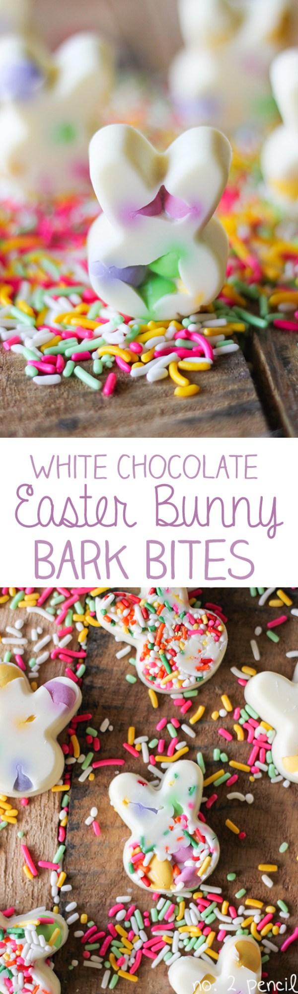 White Chocolate Easter Bunny Bark Bites