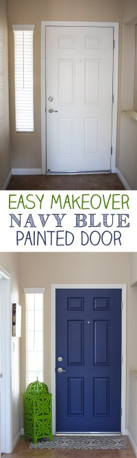 Navy Blue Interior Front Door - Easy Pop of Color