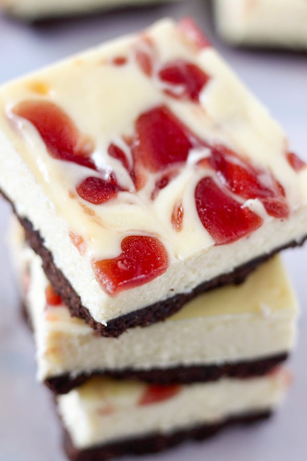 STRAWBERRY CHEESECAKE BARS - NO. 2 PENCIL