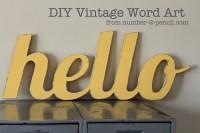DIY Vintage Word Art - No. 2 Pencil
