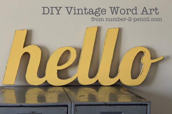 Diy Vintage Word Art - . 2 Pencil