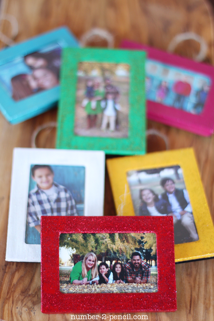 Christmas Ornament Picture Frame