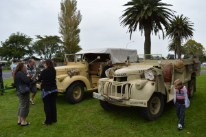 WWII era vehicles made their yearly appearance courtesy of the NZ Military Vehicles Club.