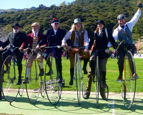 Penny farthings of the world unite! Photo: Tanya Batt