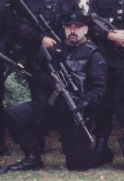 Keith in 1998, in the Armed Offenders Squad.