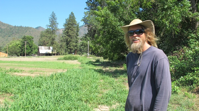 Jeff Higley, co-owner with wife Elise Higley, of Oshala Farm, Applegate Valley, OR.