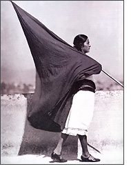 tina modotti image of flag carrying girl