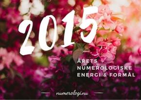Numerologisk tema for 2015 - Millicentt Rosamunde