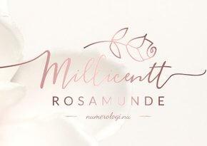 Fra Numerolog Millielil til Millicentt Rosamunde - Numerolog Millicentt Rosamunde (Millielil Rosamunde)