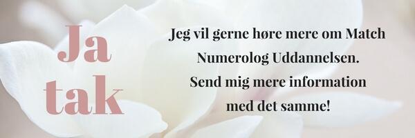 Match Numerolog Uddannelsen - instituttet for Numerologi - millicentt Rosamunde