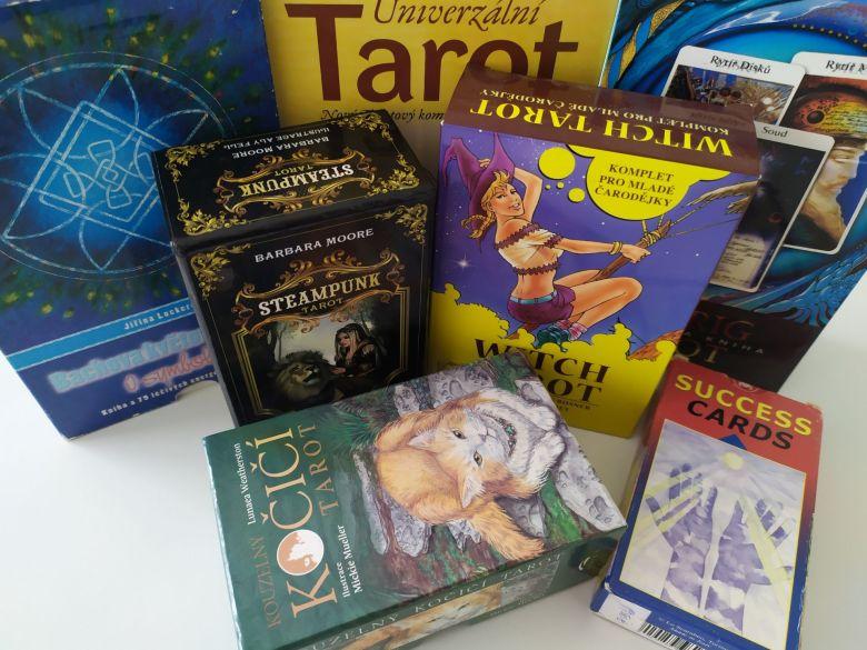 Rôzne tarotové karty - výber