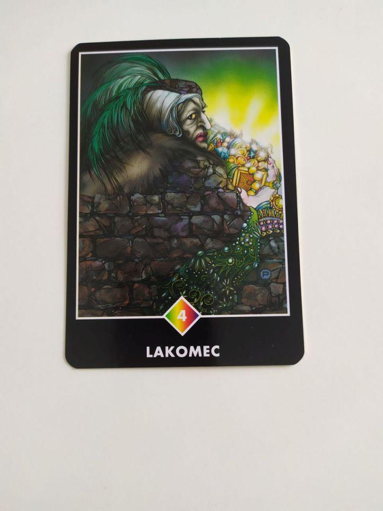 Tarotová karty Osho Zen Tarot s názvom Lakomec
