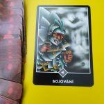 Tarotová karta Osho Zen Tarot s názvom Bojovanie