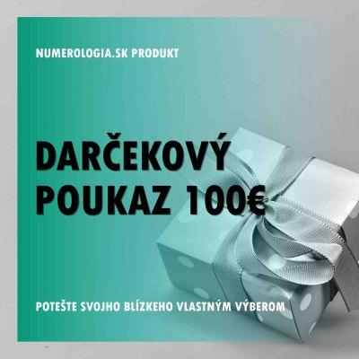 produkt Darčekový poukaz 100 eur