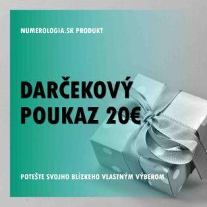produkt Darčekový poukaz 20 eur