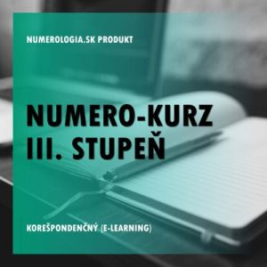produkt Numero-kurz III. stupeň korešpondenčný