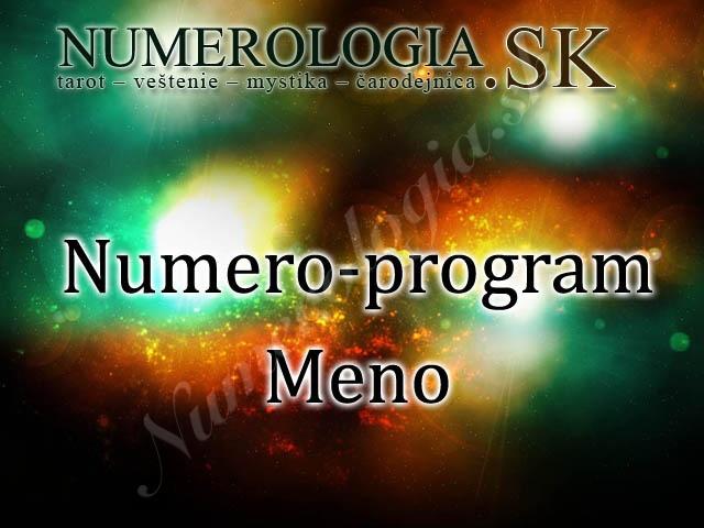 produkt Numero-program Meno