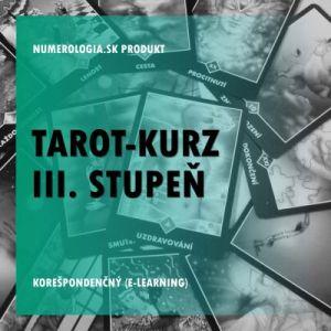 produkt Tarot-kurz III. stupeň korešpondenčný