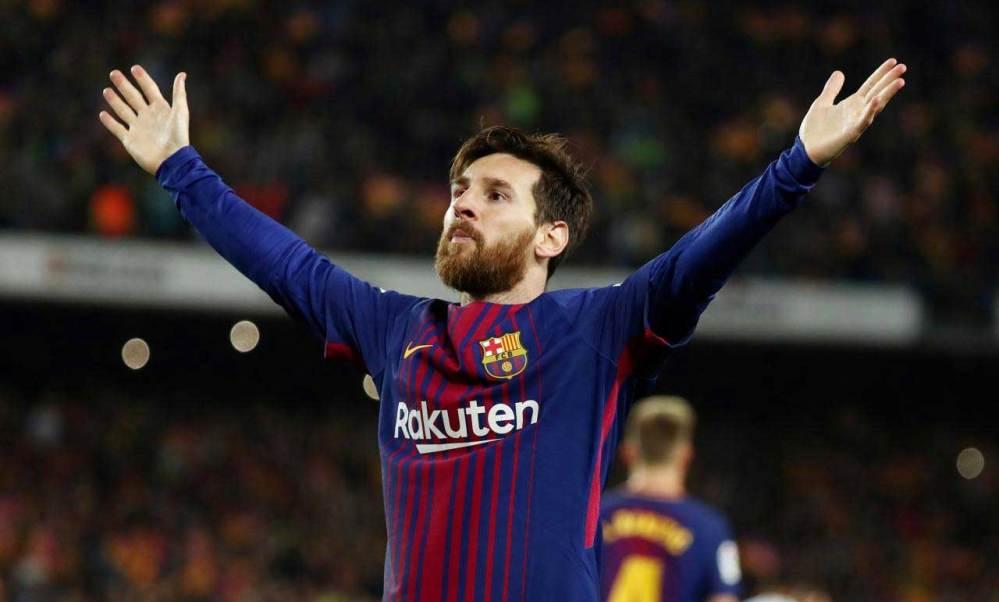 Messi esulta al gol del 2-1 nel Clasico | numerosette.eu