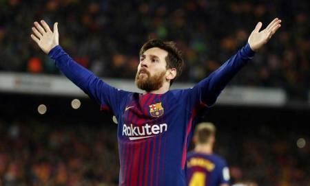 Messi esulta al gol del 2-1 nel Clasico   numerosette.eu