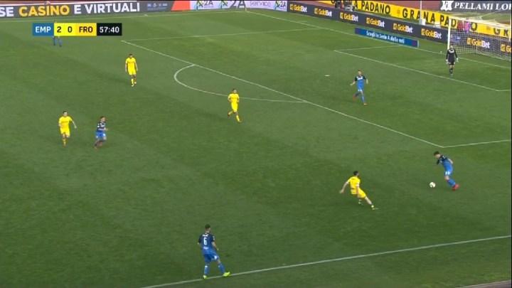 La pressione del Frosinone contro l'Empoli | numerosette.eu