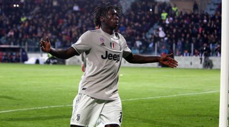 Moise Kean esulta contro i razzisti in Cagliari-Juventus | Numerosette Magazine