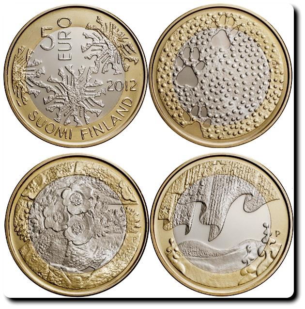 Finlandia 5 euros naturaleza 2012
