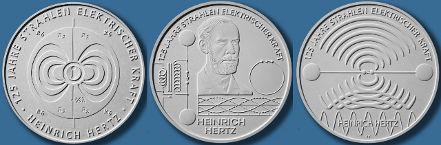 10 euros 2013 125 años descubrimiento ondas electromagnéticas diseños descartados