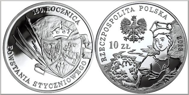 10 zlotych 2013 150 aniversario de la sublevación de enero