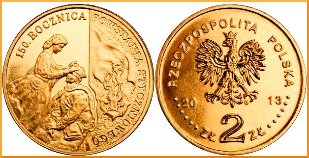 2 zlote 2013 150 aniversario de la sublevación de enero