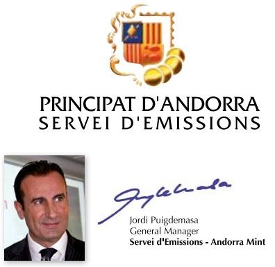 Servicio emisiones moneda Andorra