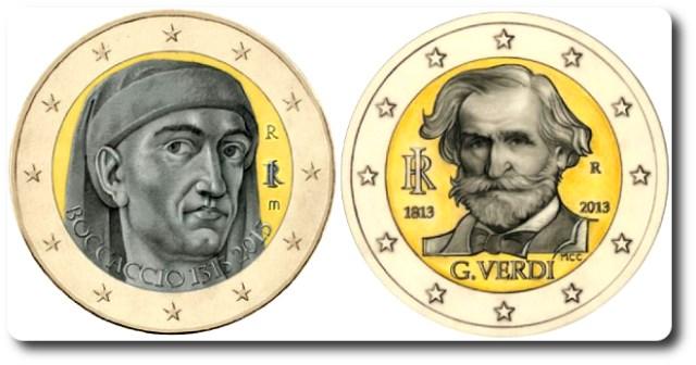 monedas 2 euros cc italia 2013