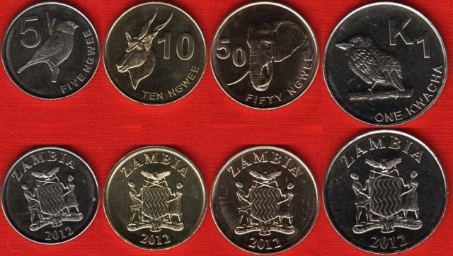 serie monedas Zambia