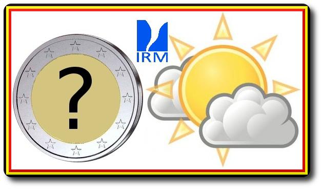 2 euros Real instituto metereologico de belgica