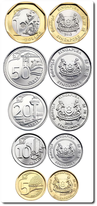 nueva serie monedas 2013 singapur
