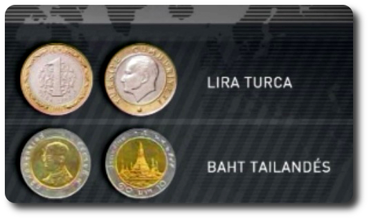 monedas similares al euro