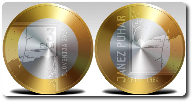 3 euro eslovenia 2014