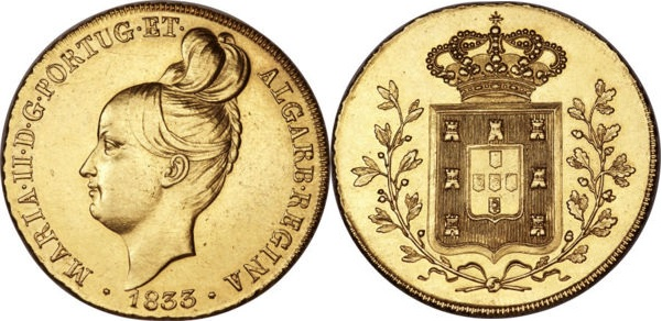 Moneda original acuñada en 1833