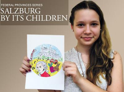 Melisa Begic mostrando su boceto ganador