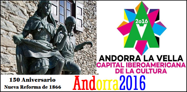 Aunque los motivos no han sido anunciados, este año Andorra celebra los 150 años de la Nueva Reforma de 1866 y por otro lado, Andorra la Vella es Capital Iberoamericana de la cultura 2016. Puede que alguno de estos temas puedan ser los elegidos