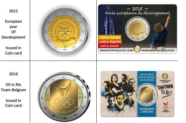 Monedas que sólo han sido emitidas en Coincard.