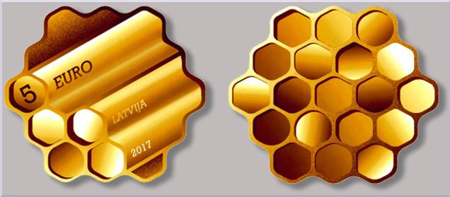 Letonia tiene ganador para su Moneda Innovadora 2017 Miel