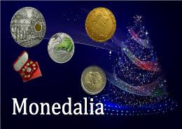 Monedas especiales ideal para regalos de Navidad