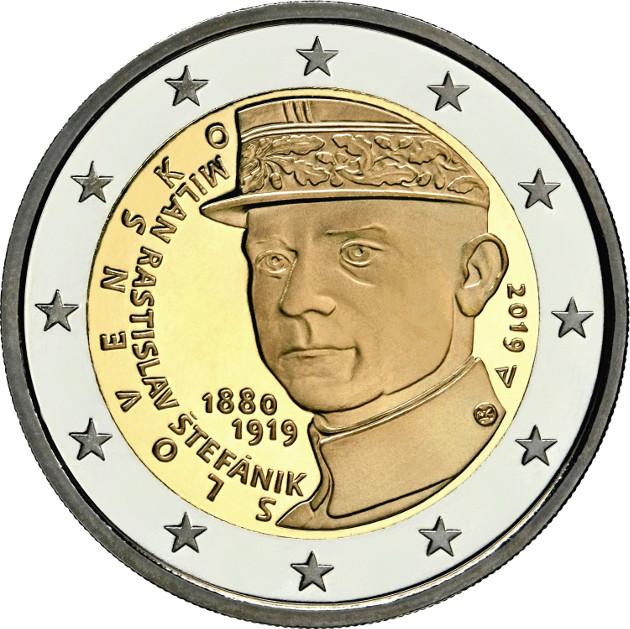 Moneda 2 Euros Cc Eslovaquia 2019 Más Sobre Y Sello Numismatica Visual