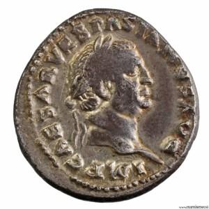 Denier de Vespasien revers Ivdaea